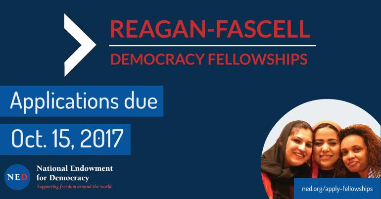 Reagan-Fascell Democracy Fellows Program for Democratic Activists