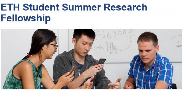 Graduate Internships Summer 2020.Eth Student Summer Research Fellowship 2020 For