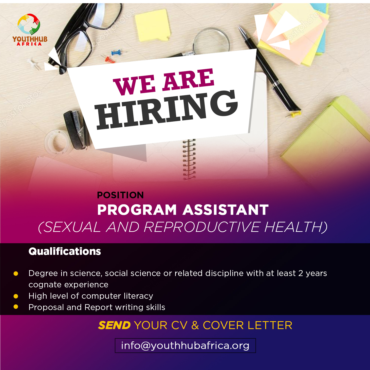 Call For Application:Program Assistant Sexual Reproductive